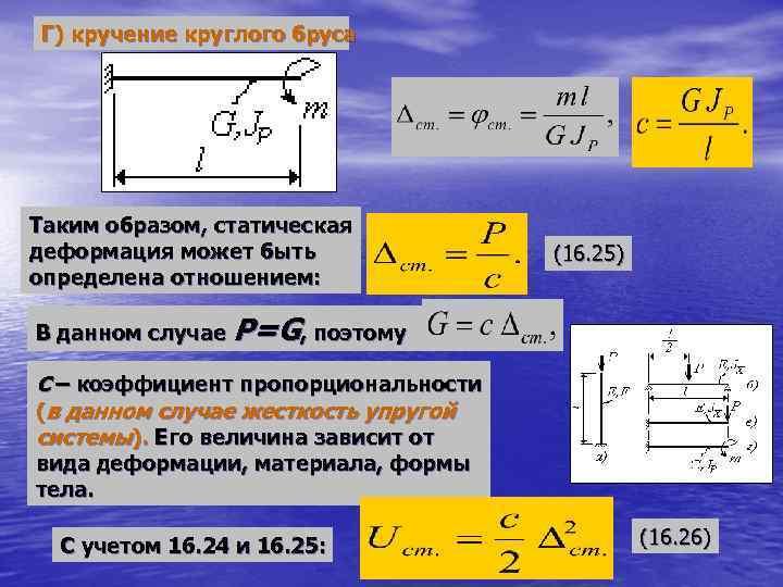 Тема 2.5. кручение. напряжения и деформации при кручении
