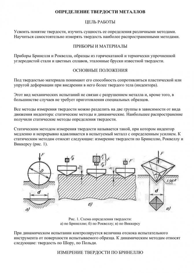 Измерение твердости («hardness testing»)