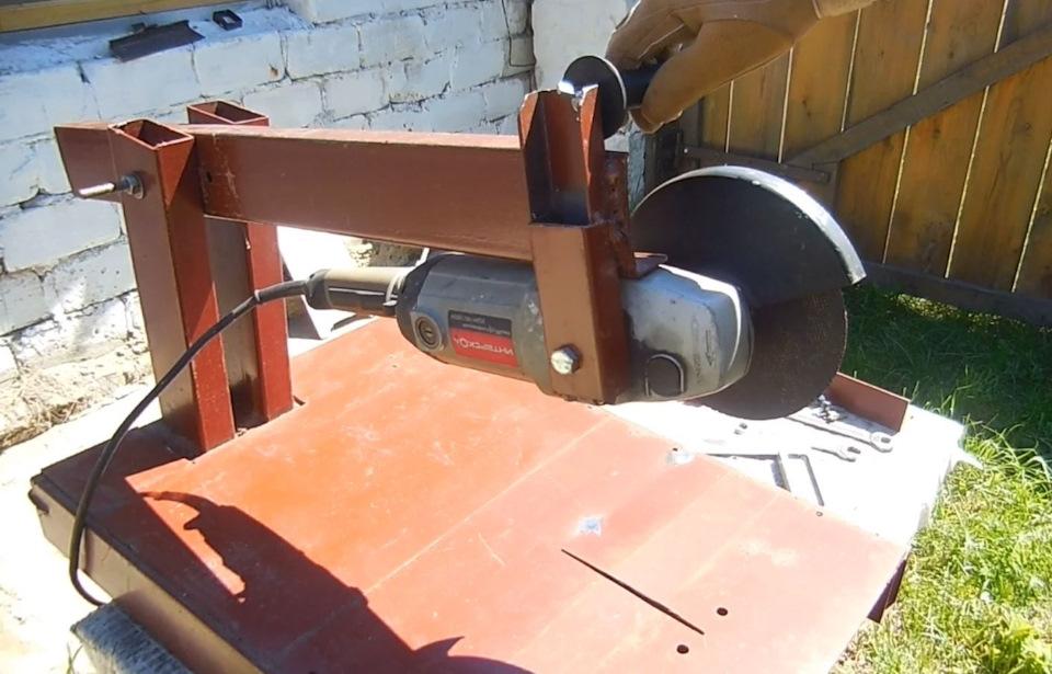 Отрезной станок из болгарки своими руками: преимущества самодельного оборудования, как сделать станок из ушм