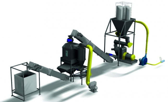 Станок для производства гранул из опилок - отопление