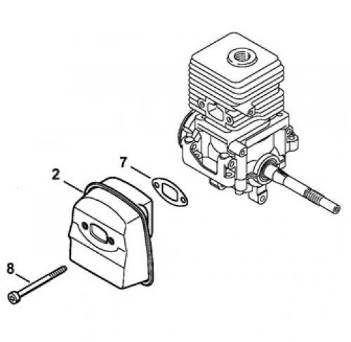 952715681, 2010-03. двигатель. деталировка  бензокосы partner b250 b gt