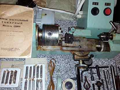 Описание и область применения настольного токарного станка 1д601: технические характеристики