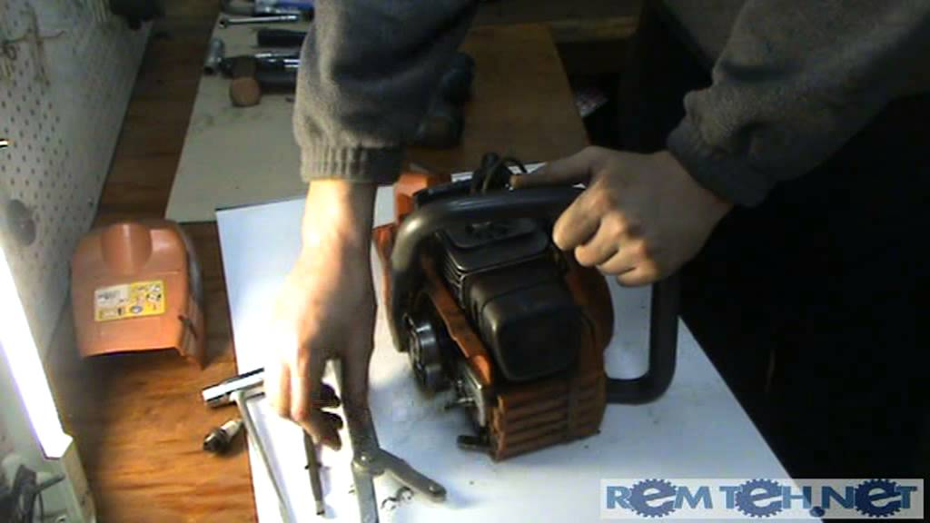Как снять звездочку с бензопилы олео мак