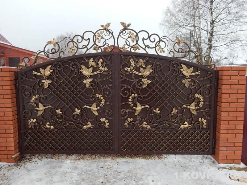 Распашные ворота – особенности установки механических и автоматических моделей (95 фото)