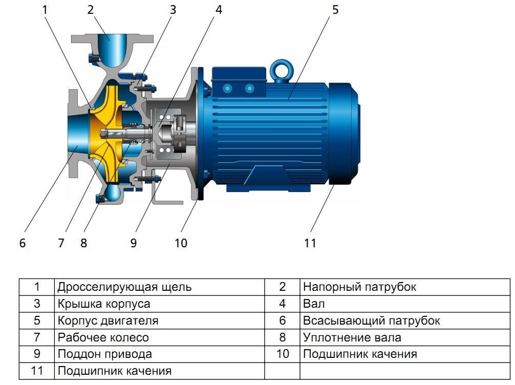 Принцип работы центробежного насоса: устройство и характеристики