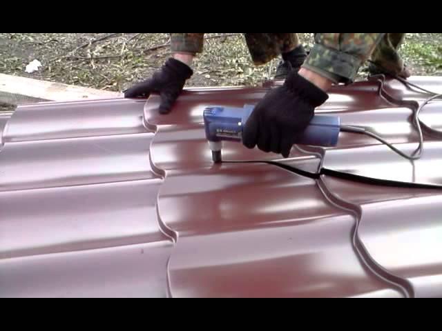 Высечные ножницы по металлу. режем металлоцерепицу   проинструмент