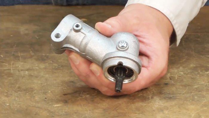 Ремонт редуктора бензокосы хускварна 128 своими руками