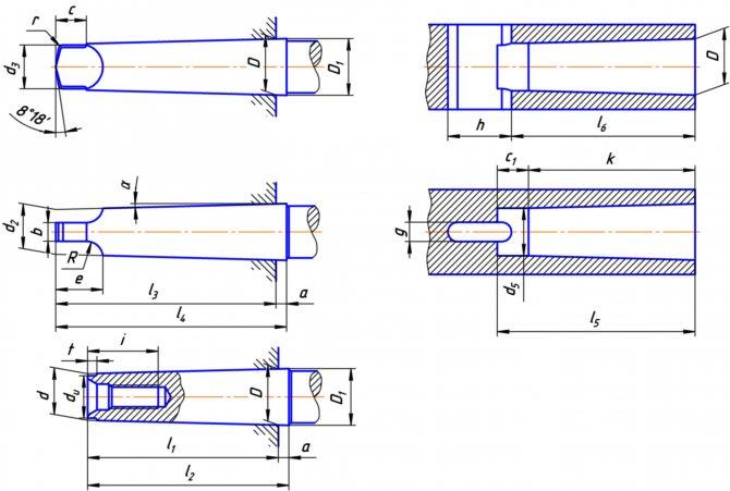 Гост 9953-82 конусы инструментов укороченные. основные размеры