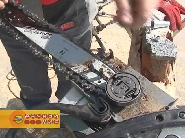 Как натянуть цепь на бензопиле. советы по натягивани. цепи на бензопилу