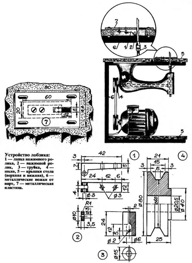 Электролобзик своими руками из швейной машинки