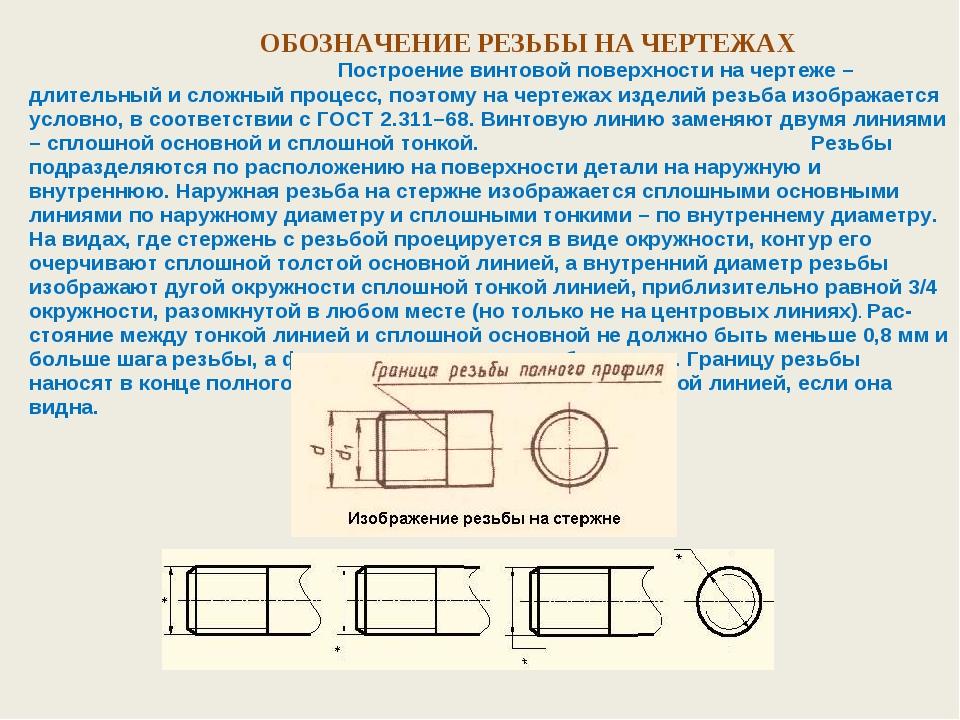 Обозначение трубной резьбы. как на чертеже изображается и обозначается трубная резьба
