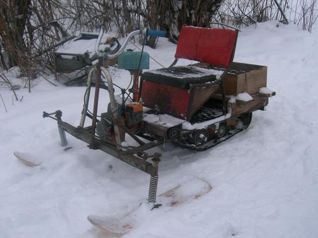 Самодельный снегоход – палочник из бензопилы «дружба 4»