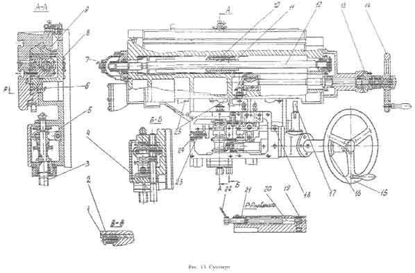 6м83, 6м83г - универсальный горизонтальный консольно-фрезерный станок, гзфс, г. горький. паспорт, руководство по эксплуатации, 1961 год